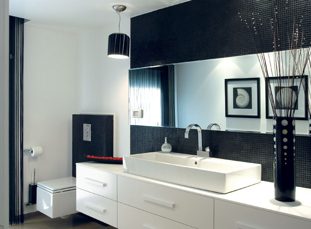 Interior design for bathrooms. Last but not least should be considered