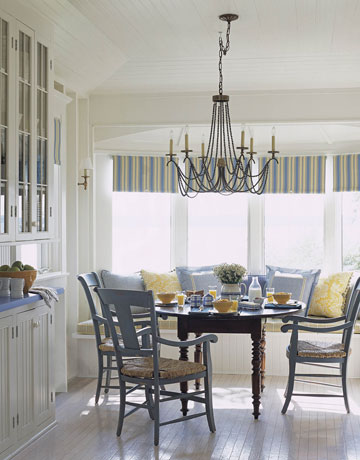 Light blue and yellow dining room the - Yellow and blue dining room ...