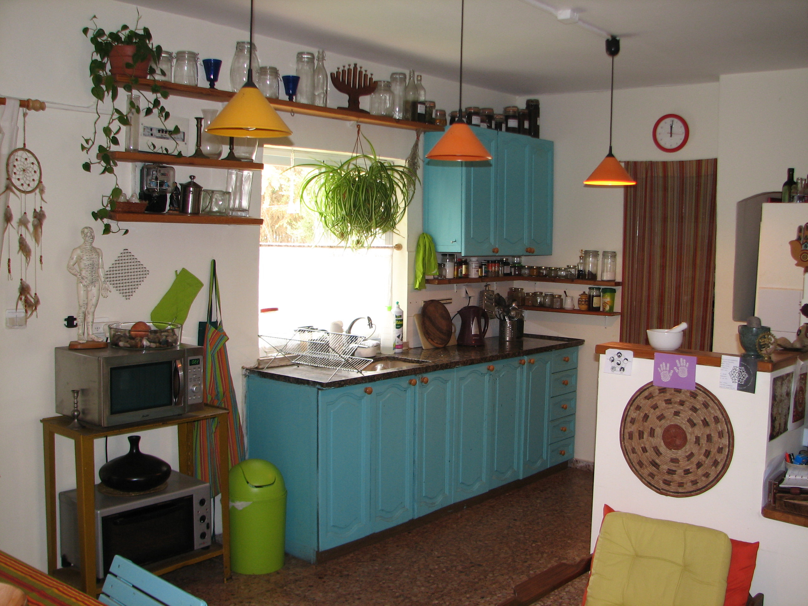 Wonderful The Turquoise In The Kitchen Is Close .