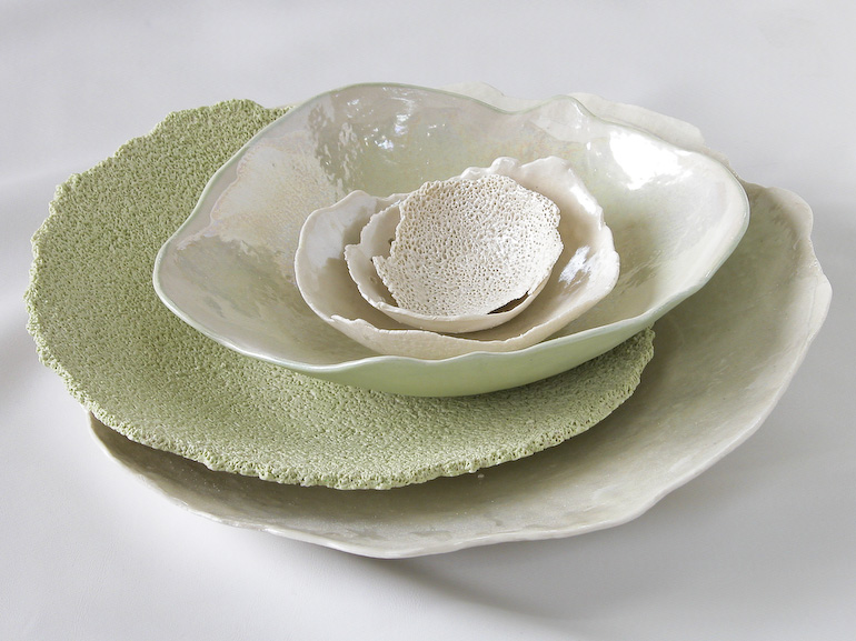 Ceramic designer einat cohen - Objects inspired by nature ...