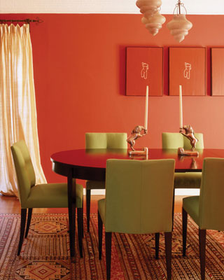 Known To Increase The Appetite, It Is A Popular Color For Dining Rooms And  Restaurants. This Room By Antonia Hutt Is A Perfect Complimentary Color ...