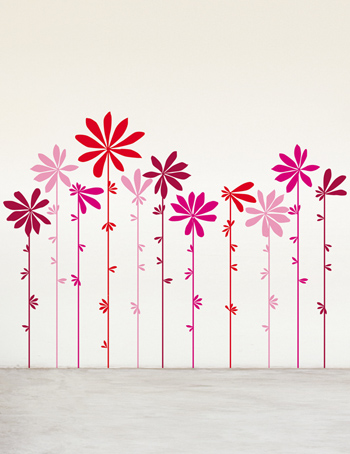 Wall drawing pink flowers tchochkes wall drawing pink flowers mightylinksfo