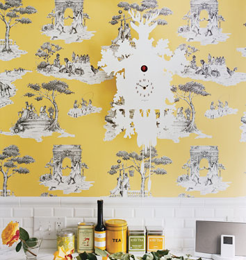 Yellow and blue toile curtains 171 blinds shades curtains