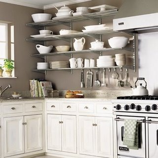 Kitchen Wall  Ideas on Kitchen Trend  Open Shelving