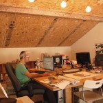 Gallery office space with Dan