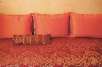 Moroccan mattress and cushions
