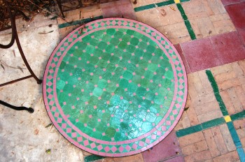 Moroccan table top mosaic