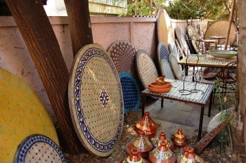 Villa Maroc back garden