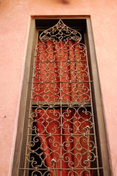 Villa Maroc showroom window grill