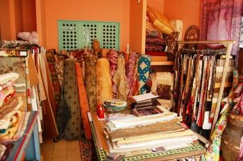 Villa Maroc textile room