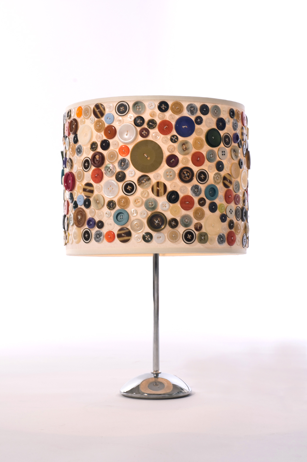 Recycled button lampshade tchochkes recycled button lampshade aloadofball Gallery