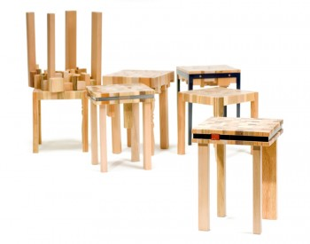 Recycled Wood stools or side tables