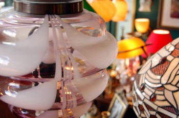 Smoky glass lampshades