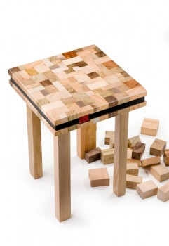 oli recycled stool or side table