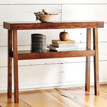 Crafted Of Sustainable Acacia Wood, This Console Table From West Elm  Combines Simple Lines And A Warm Tobacco Stain To Strike That Perfect  Balance Between ...