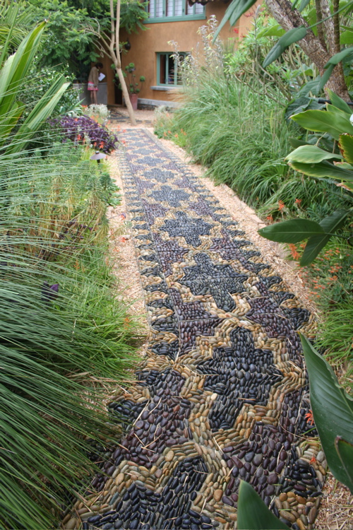 Decorative art form Pebble Mosaics