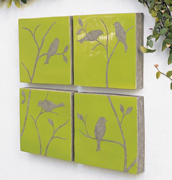 Crate and Barrel bird tiles