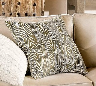 Wood faux pillow